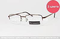Металева універсальна оправа для окулярів «Моя класика». Полуободковая, фото 1