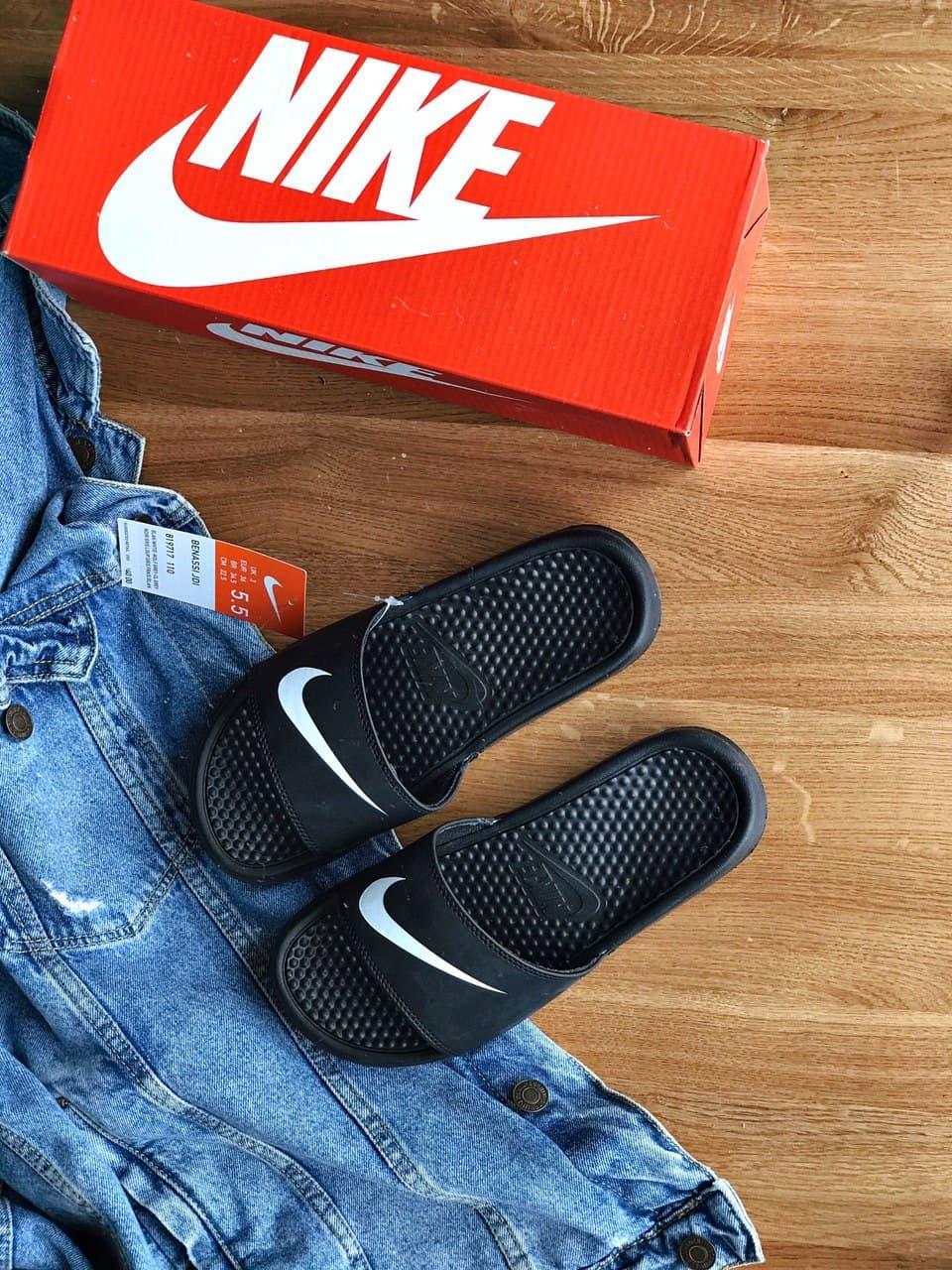 "Женские тапочки Nike Tanjun Sandal Flip-Flops ""Black"""