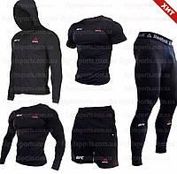 """Компрессионная одежда комплект 5 в 1 Reebok UFC (Рибок ЮФС) для тренировок Черный Пакистан """"В СТИЛЕ"""""""