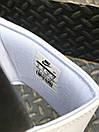 Чоловічі тапочки Nike Benassi Black logo black white, фото 3