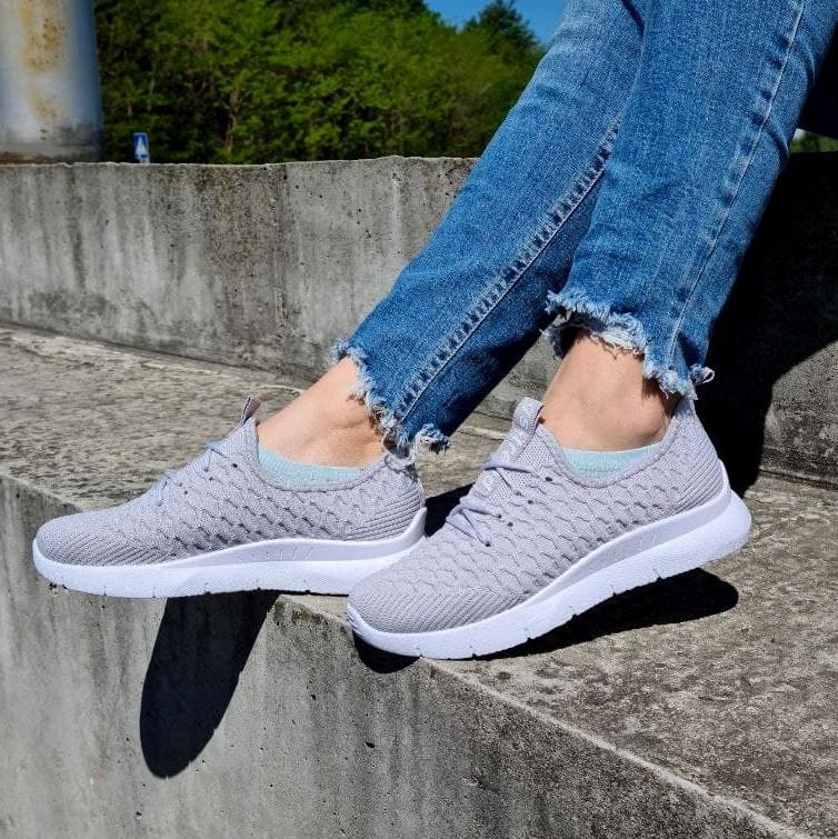 Кросівки жіночі літні сірого кольору (Нс-584ср)