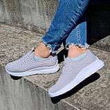 Кросівки жіночі літні сірого кольору (Нс-584ср), фото 3
