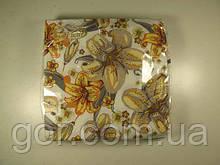 Гарна серветка (ЗЗхЗЗ, 20шт) La Fleur Полотно з лілій 508 (1 пач.)