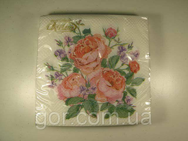 Праздничная салфетка (ЗЗхЗЗ, 20шт)  La Fleur  нежная композиция 500 (1 пач)