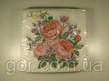 Святкова серветка (ЗЗхЗЗ, 20шт) La Fleur ніжна композиція 500 (1 пач.)