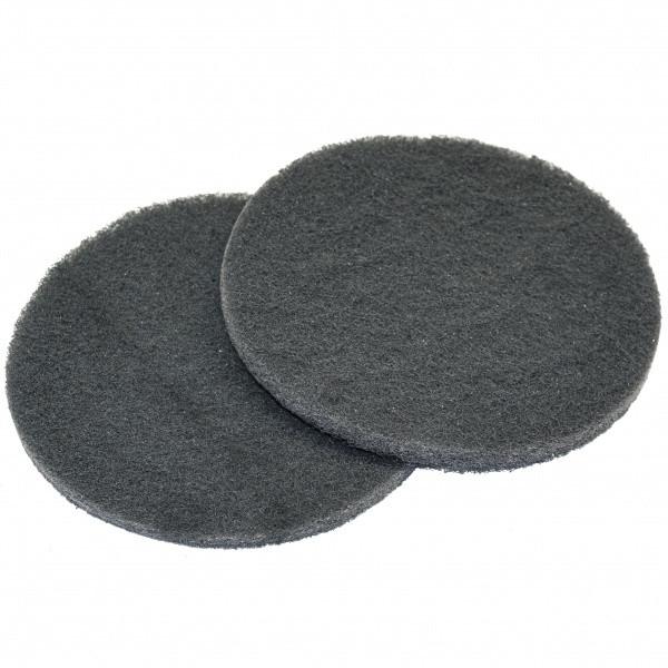 Скотч брайт диск 125 мм серый P1000