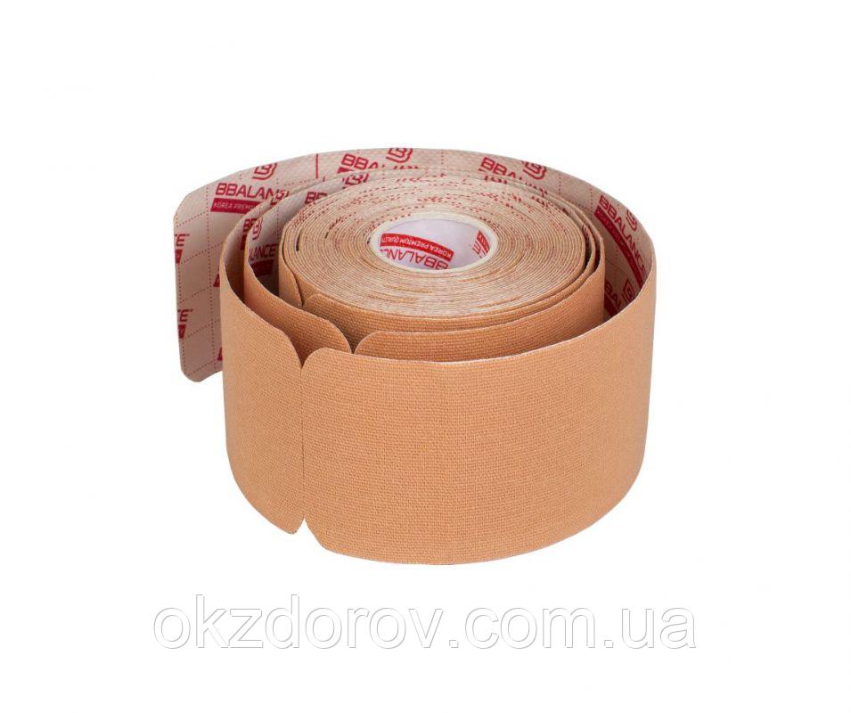 Кинезио тейп преднарезанный в рулоні Pre-cut BBTape™ 5см x 5 м бежевий