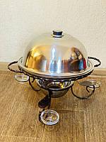 Садж для подачи (подогрева) шашлыка d36 + крышка + соусницы