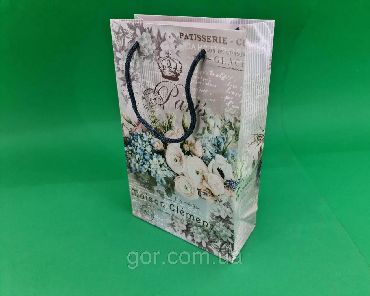 Бумажный пакет подарочный Средний 17/26/8 (артSV-075) (12 шт)