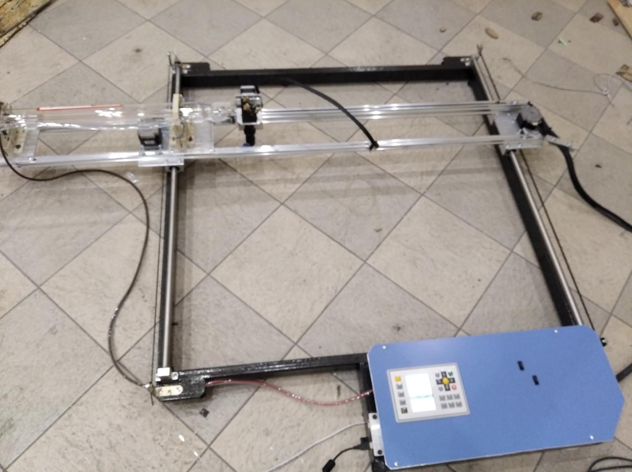 Лазерный СО2 станок, резак, гравер 80 Вт. Поле 125*75 см. Laser 80W