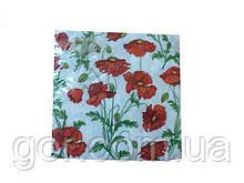 Дизайнерська серветка (ЗЗхЗЗ, 20шт) La Fleur Полотно з маків (107) (1 пач.)