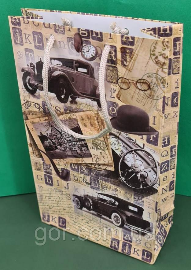 Бумажный пакет подарочный Средний 17/26/8 (артSV-098) (12 шт)