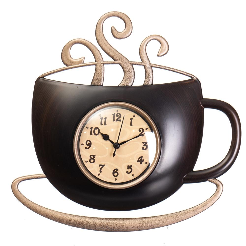 Часы настенные кухонные Чашка горячего кофе 31 см 12003-027