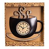 Часы настенные кухонные Чашка горячего кофе 31 см 12003-027, фото 2