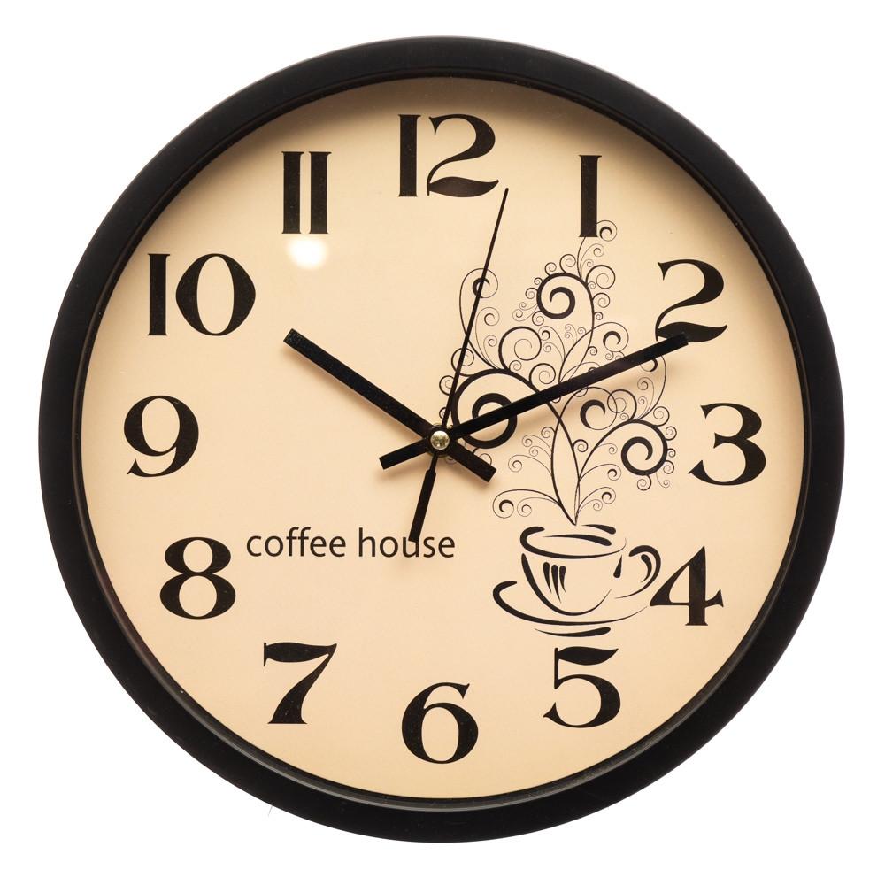 Часы настенные кухонные Время для кофе 30 см 12003-022