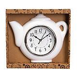 Часы настенные кухонные Белый чайник 28 см 12003-026, фото 3