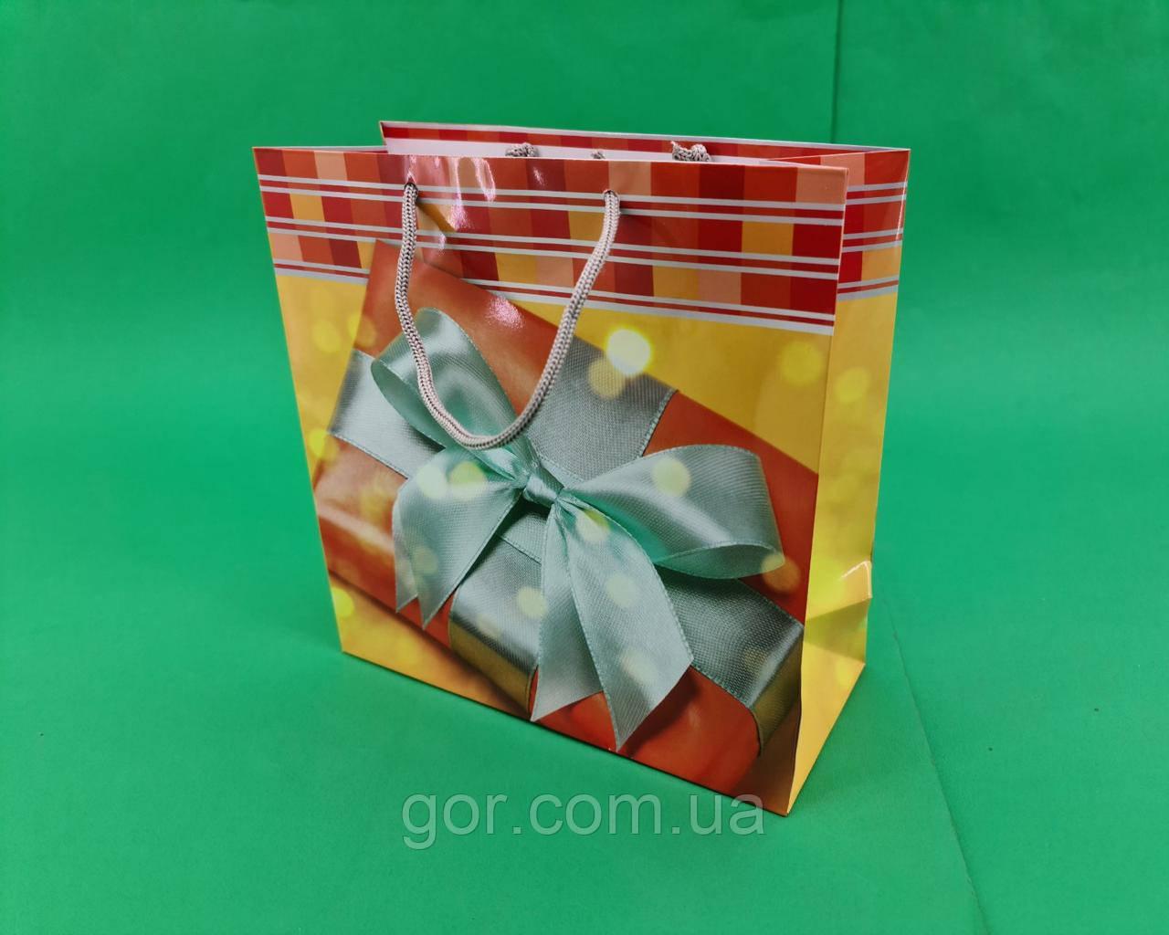 Пакет подарунковий паперовий квадратний и 23*24*10(артKV-177) (12 шт)