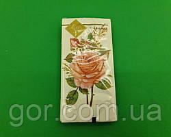 Гарна серветка (ЗЗхЗЗ, 10шт) Luxy MINI Бутоньєрка з троянд (2031) (1 пач.)