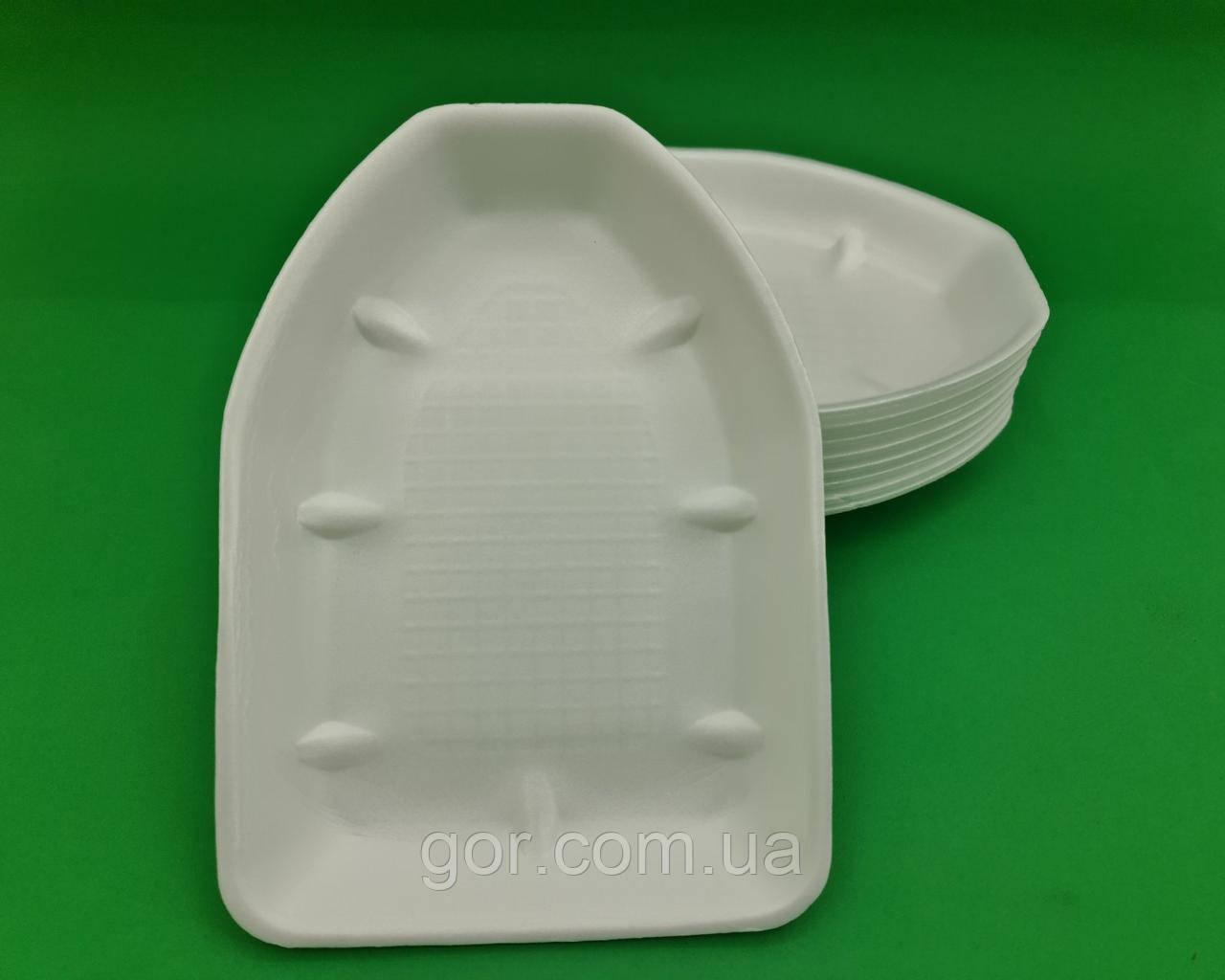 Подложка из вспененного полистирола  (под тушку курицы) Т-5-25 (200 шт) одноразовый, для упаковки продуктов