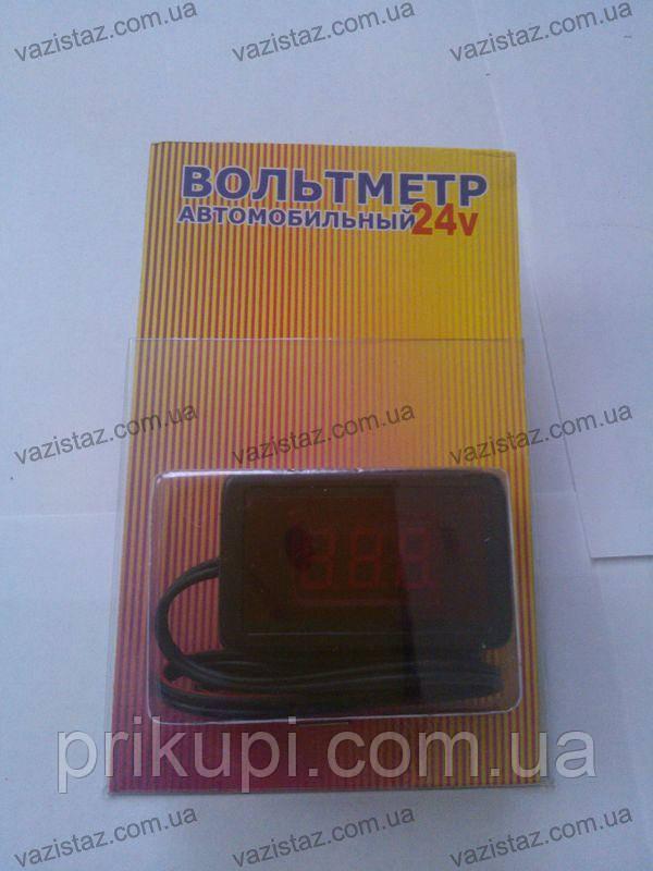 Цифровой вольтметр автомобильный 24V на проводе