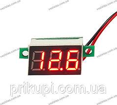 Цифровой вольтметр автомобильный 12-24В (встраиваемый)