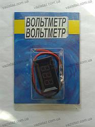 Цифровой вольтметр автомобильный 12V встраиваемый (маленький)