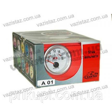 Вольтметр стрелочный 7701(А 01) LED, d52мм, фото 2