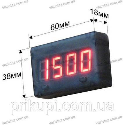 Термометр, вольтметр з двома виносними датчиками 12 вольт, фото 2