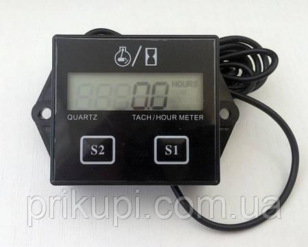 Цифровий тахометр лічильник мотогодин для бензопили, човнової мотора, мопеда 2-4 такти, фото 2