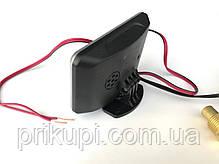 Цифровой датчик температуры двигателя + вольтметр 12-24 вольт (Ø - 16 мм), фото 3
