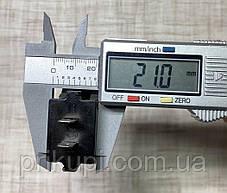Автомобильное врезное USB зарядное устройство 2 х 2.1А + вольтметр 12-24V Красное, фото 2