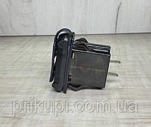 Автомобильное врезное USB зарядное устройство 2 х 2.1А + вольтметр 12-24V Красное, фото 3