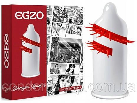 Презервативы насадка с усиками  шипами Egzo Dragon Lord's.Премим класс! Великобритания.