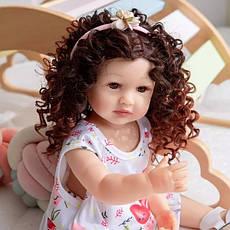 Силіконова колекційна Лялька Реборн Reborn дівчинка Діна Вінілова Лялька Висота 55 См (228), фото 3