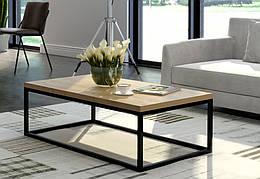 Кофейный журнальный столик  в стиле LOFT Черный (NS-614)