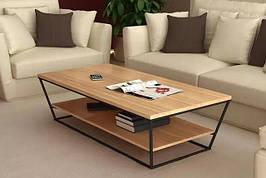 Кофейный журнальный столик  в стиле LOFT Черный (NS-722)