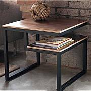 Кофейный журнальный столик  в стиле LOFT Черный (NS-632)