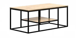 Кофейный журнальный столик  в стиле LOFT Черный (NS-504)