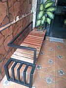 Уличная скамейка в стиле LOFT Черный (NS-2210)