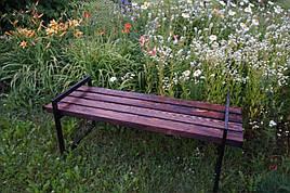 Скамейка парковая стиле LOFT Черный (NS-1597)