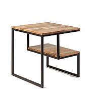 Прикроватный столик в стиле LOFT Черный (NS-1476)