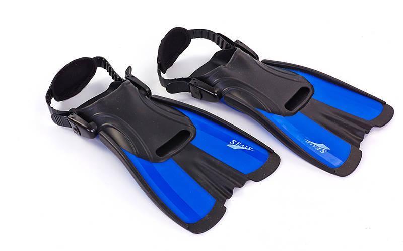 Ласты тренировочные planeta-sport с открытой пяткой SEALS F16 S (34-38) Синий