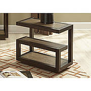 Приставной столик в стиле LOFT Коричневый (NS-1511)