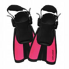 Ласти SportVida SV-DN0008JR-S Size 29-33 Black/Pink, фото 3