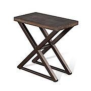 Приставной столик в стиле LOFT Черный (NS-1526)
