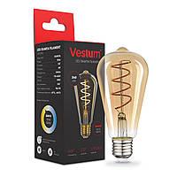 "Филаментная лампа Vestum ""винтаж"" golden twist ST64  Е27 4Вт 220V 2500К 1-VS-2703"