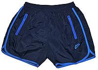 Шорты мужские для отдыха и купания, темные с принтом Nike
