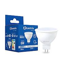 Світлодіодна лампа Lectris MR16 6W 4000K 220V GU5.3 1-LC-1501