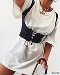 Женское платье свободного силуэта  с корсетом, фото 2
