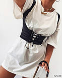 Жіноче плаття вільного силуету з корсетом, фото 2